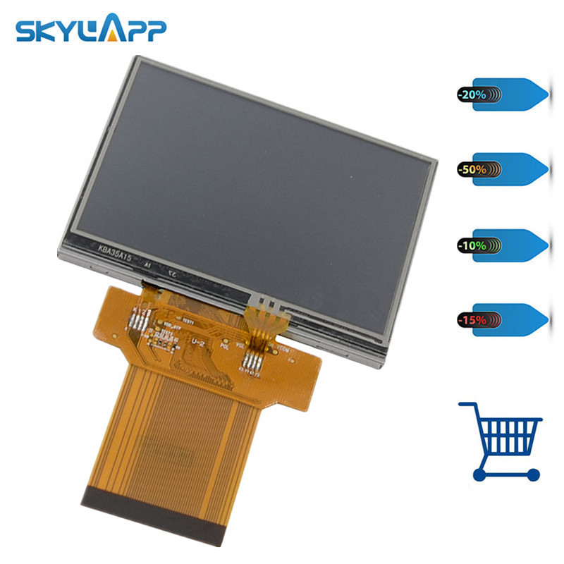 Skylarpu 3.5 inch Complete LCD display screen TM035KBZ17 ForLogitech Harmony 1100 2nd Generation LCD display screen