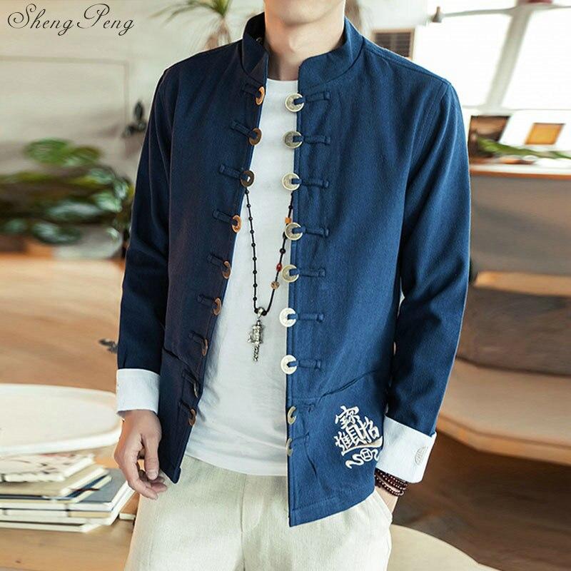 Vêtements chinois traditionnels pour hommes shanghai tang vêtements orientaux veste chinoise kung fu vêtements hommes vêtements Q085