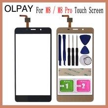 """OLPAY 5,"""" для Leagoo M8 Pro, сенсорный экран, дигитайзер для Leagoo M8, сенсорная панель, сенсорный экран, сенсор, переднее стекло, Бесплатный клей+ салфетки"""