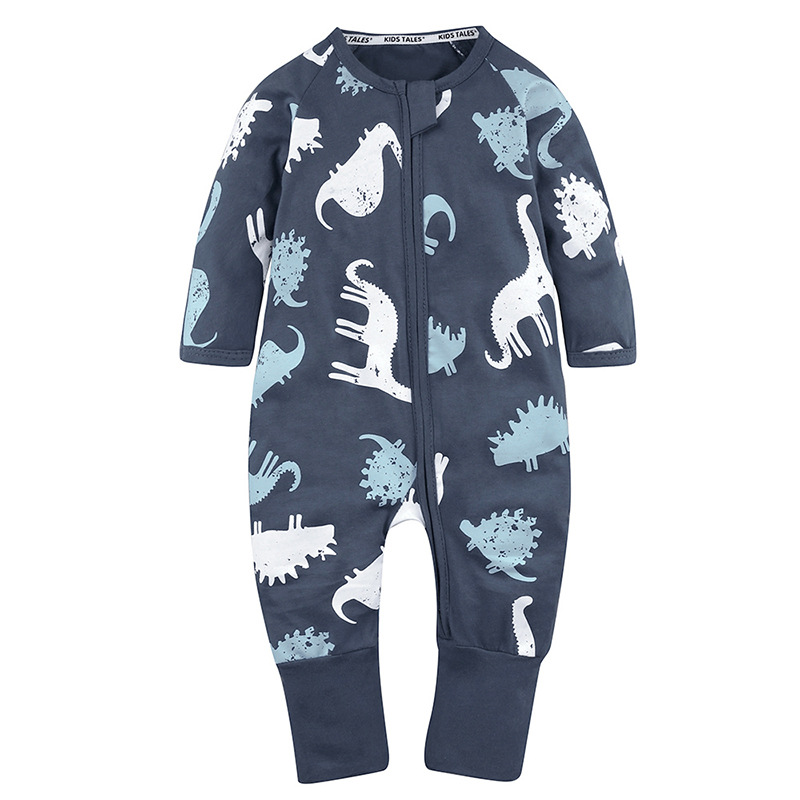 Baby Boys Romper Girls Jumpsuit Kids Clothing Spring Newborn Cartoon Dinosaur Pattern Baby Long Sleeve Clothes puseky 2017 infant romper baby boys girls jumpsuit newborn bebe clothing hooded toddler baby clothes cute panda romper costumes