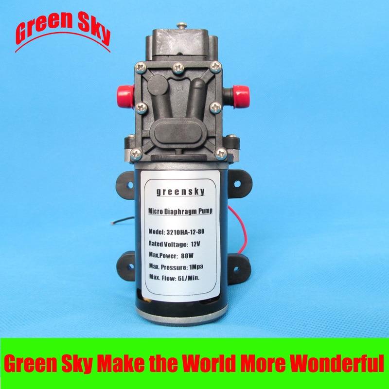 6L/Min 80W 12v dc return valve type high pressure mini diaphragm pump popular sale 30w small diaphragm return valve type 12v high pressure water pump