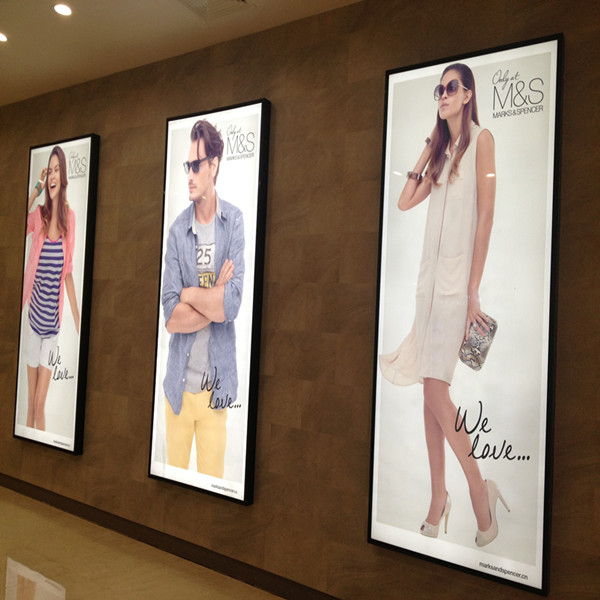 a0 poster frame with acrylic wall frames for illuminated menu board ...