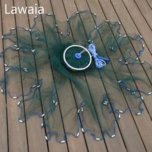Lawaia Green Fishing Net Four Generation Aluminum Ring Green Netting Cast Net Iron Pendant American Fish Netting Green Outdoor