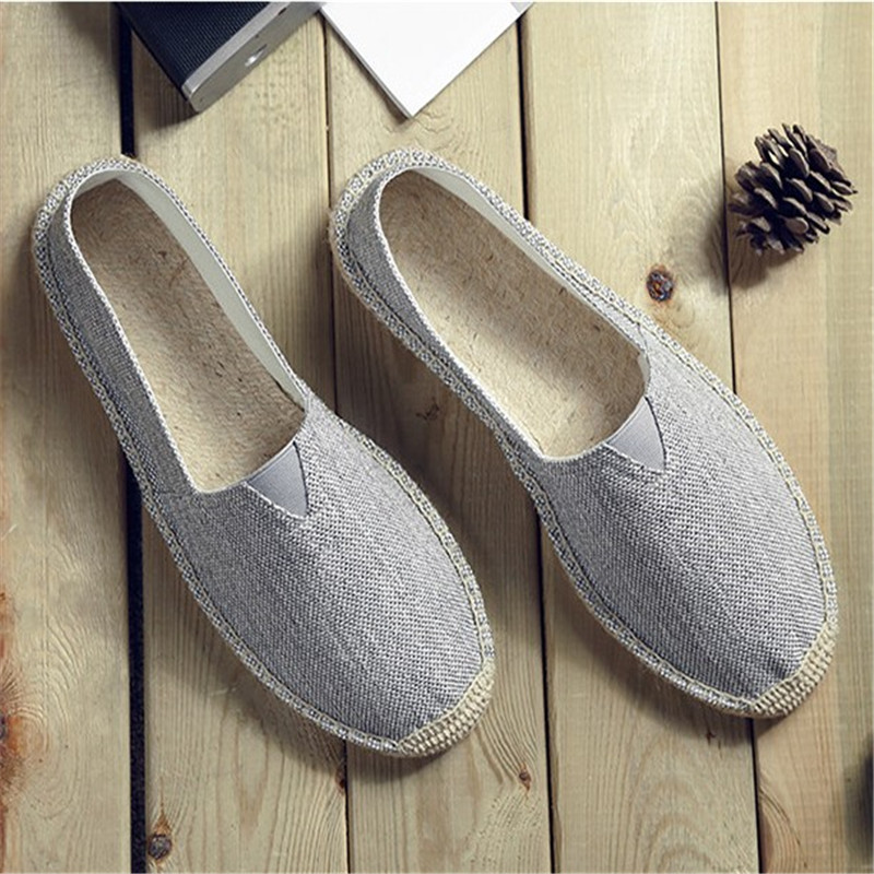 Men Espadrilles Flats Canvas Shoes Mix Color Creepers Slip On Men Loafers Breathable Men Shoes Fishman footwear Plus size 39-45