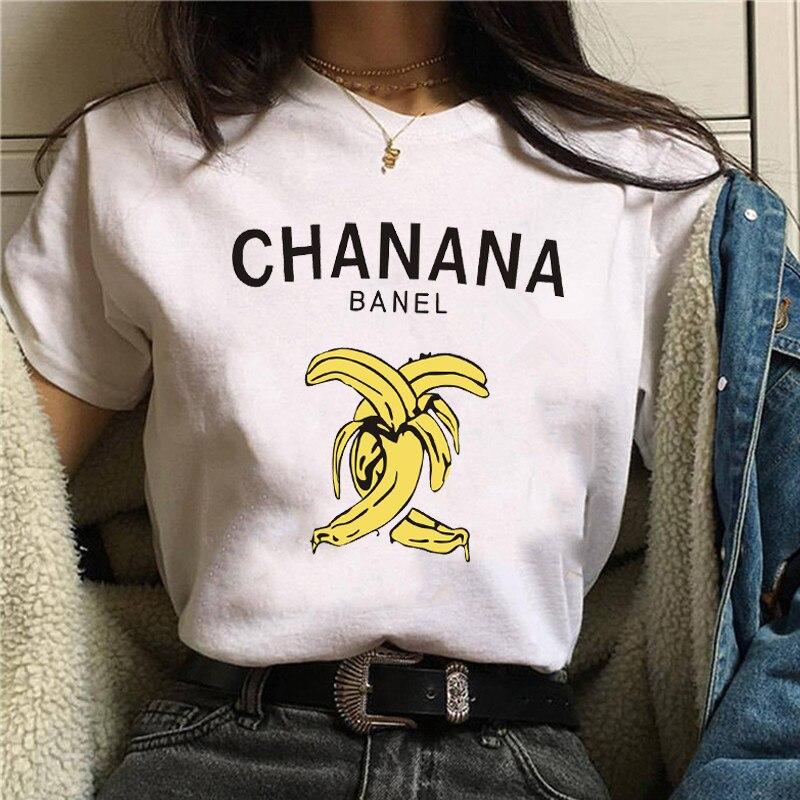 2019 New Women   T  -  shirts   Harajuku Vogue Banana Printed Tops Tee Summer Female   T     shirt   Short Sleeve   T     shirt   For Women Clothing