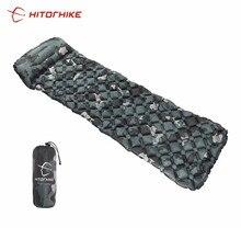 Инновационный коврик для сна Hitorhike, быстронаполняемый воздушный мешок, надувной матрас для кемпинга с подушкой, спасательный коврик 550 г