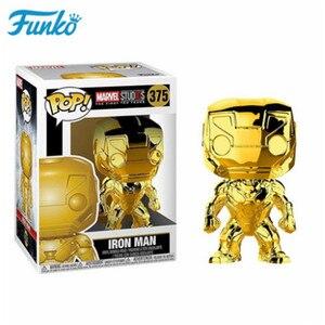 Image 2 - Official FUNKO POPมหัศจรรย์10th Anniversary Black Panther Iron Man Loki Grootตุ๊กตาไวนิลAction & Figureของเล่นวันเกิดของขวัญ