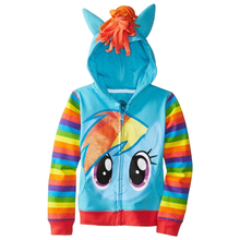 Retail 2017 little pony Kids Girls and boys jacket Children's Coat Cute Girls Coat,hoodies,girls Cotton Jacket children clothing