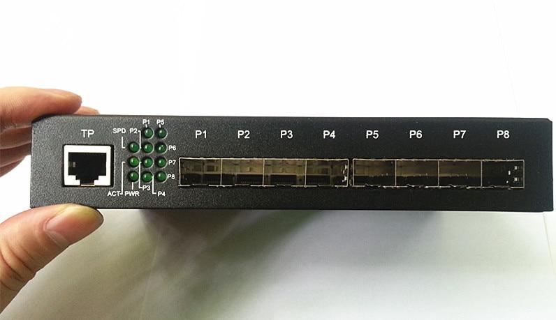 9 portów Gigabit Ethernet Optical Fibre Switch1310 / 1490/1550 / - Sprzęt komunikacyjny - Zdjęcie 5
