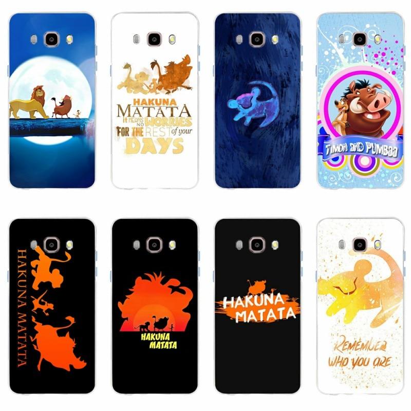 Phone-Case Hakuna Matata S7edge Lion King S6plus J5 Soft-Silicone Samsung Galaxy