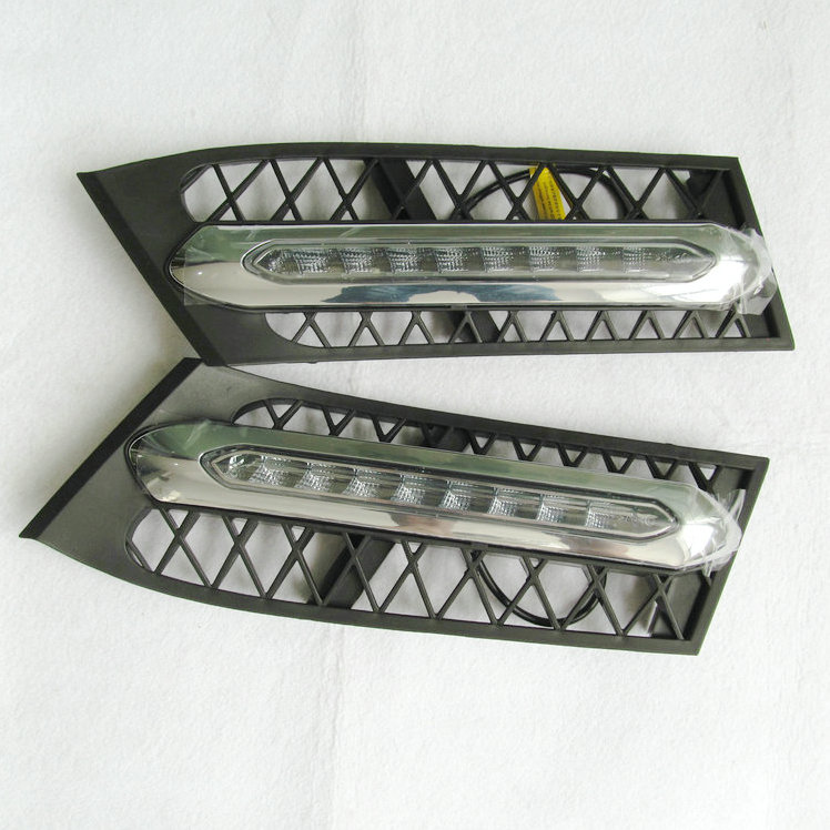Car Flashing 1 Set For Bmw 5 Series GT 2009 2013 Daylight Car LED DRL Daytime Running Lights Fog head Lamp cover car styling
