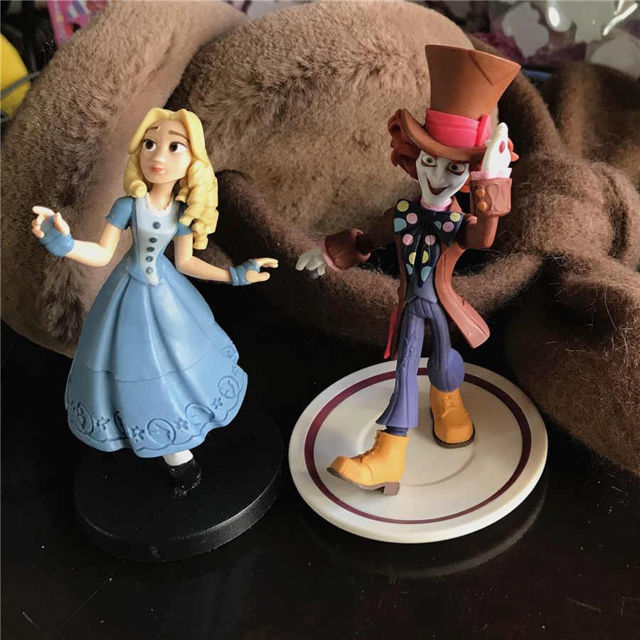 Высокое качество 9 см Алиса в стране чудес фигурки Mad Hatter Кукла Алиса Коллекционная фигурка игрушка