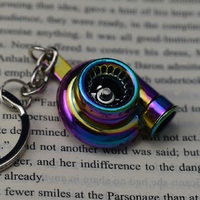 Creative Turbo Turbocharger Keychain Key Chain Ring Keyring Keyfob