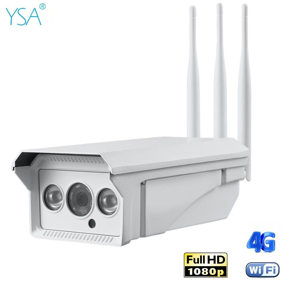 1080 P HD Sans Fil IP Caméra 4G 3G Sim Carte 2MP Bullet Sécurité Wifi Caméra Extérieure IR Nuit vision P2P CCTV Surveillance Moniteur