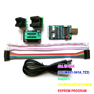 US $23 59 10% OFF|USB to SPI I2C UART TTL ISP Multi Function Buffer USB  Serial Port Communication Suit DIY ELECTRONIC toy kit development board-in