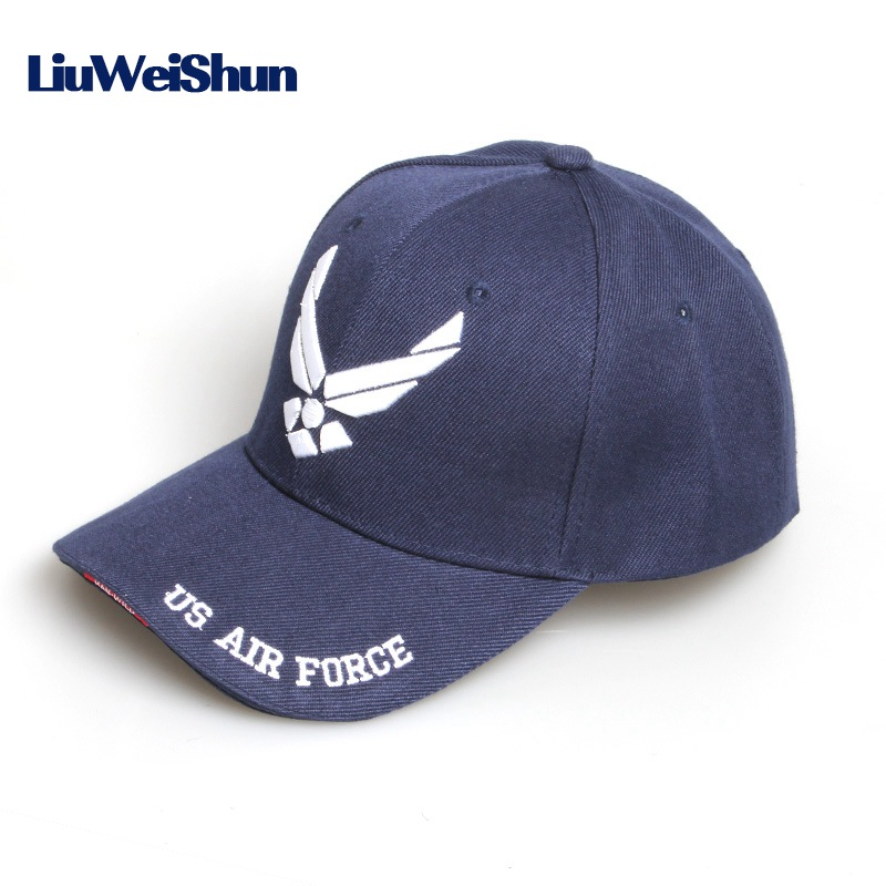 [LWS] New US Air Force Cotton Snapback Baseball Cap Men Brand USAF for Army Cap Trucker Hat Outdoor Mens Bone Gorras For Adult fashion rivets cotton polyester fiber men s flat top hat cap army green