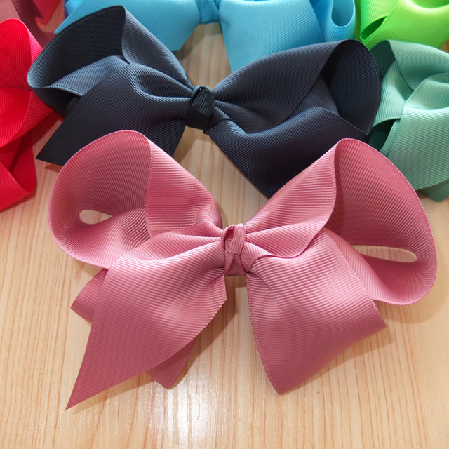 DIY Bows 6 inch Bow WITHOUT clips  DIY Apparel Sewing Craft Ribbon Bow Supplies Hair Bow Headband Hair Accessories 40pcs/lot
