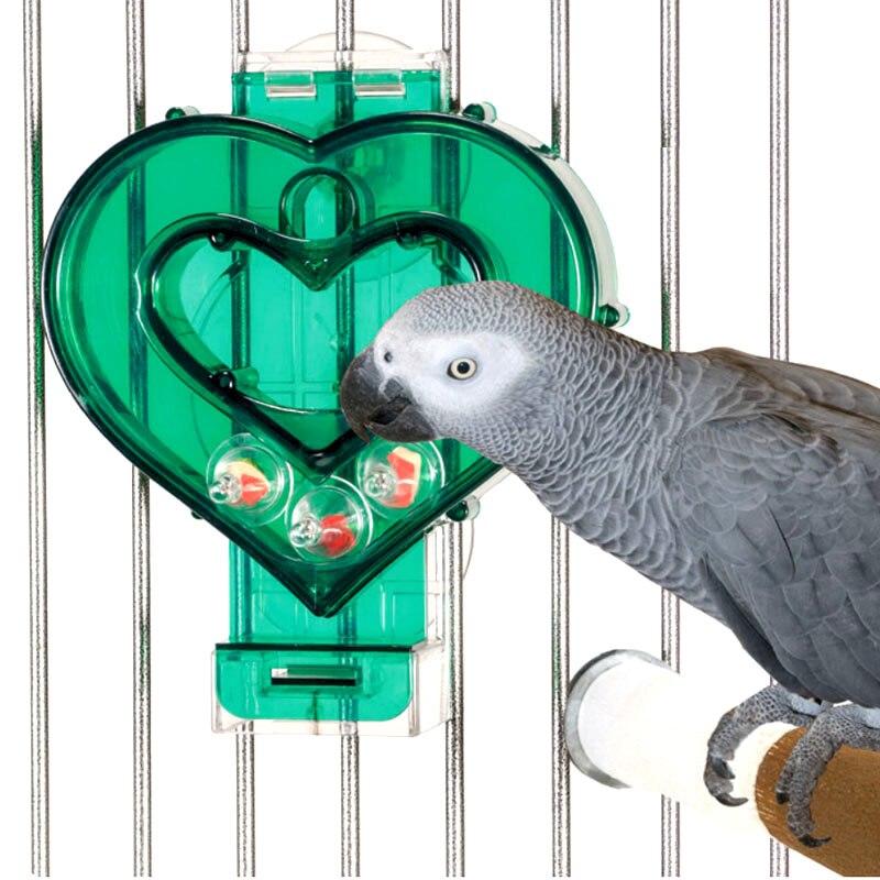 CAITEC Oiseau Jouets en forme de Coeur D'alimentation Plaque Difficile Bite Durable Résistant Adapté pour les Petites et Moyennes Perroquets Avancée D'alimentation