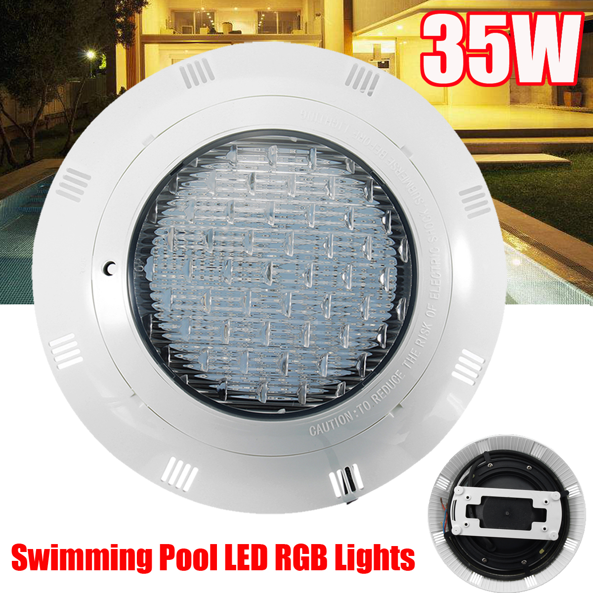 252 LED 35W 12V RGB Swimming Pool Underwater Light IP68 Wall Mounted Power LED Outdoor Underwater Lighting 7Color Remote Control underwater