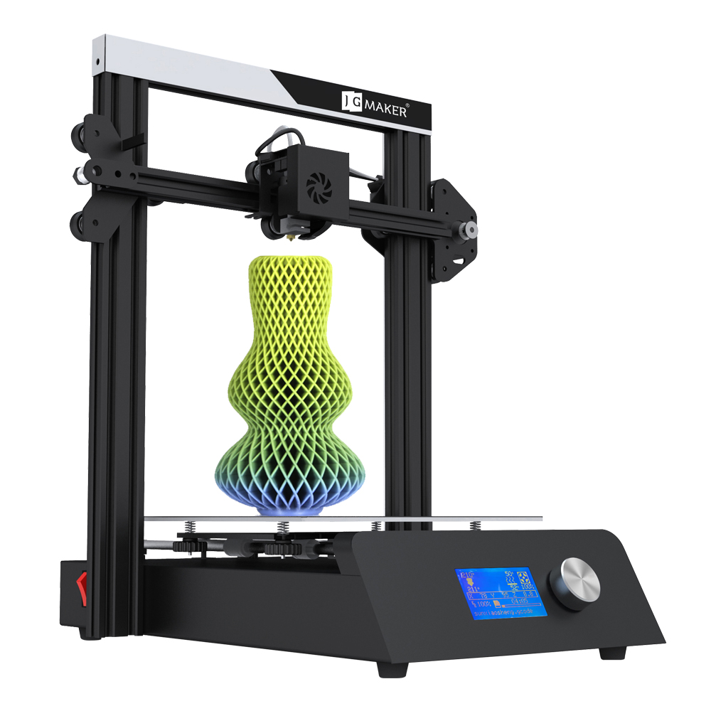 JGAURORA Magia Impressora i3 3D Ducker Full Metal De Alta Precisão Grande Construir Tamanho 220*220*250 impresora 3D com Brindes 8G Cartão