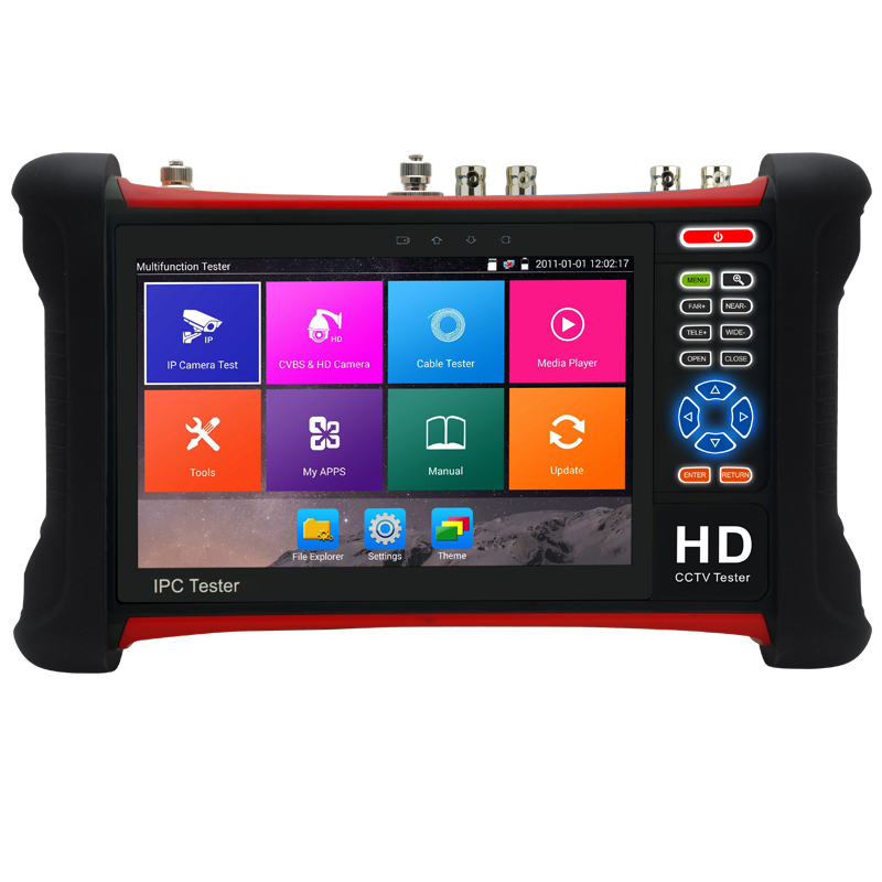 New 7inch Touch screen 8MP TVI 8MP CAI 5MP ADH 12MP IP CCTV Tester Monitor Analog Camera tester for cctv camera CCTV Tester 2017 new hot sale 7inch cctv tester for ipc 9800 movtadhs plus