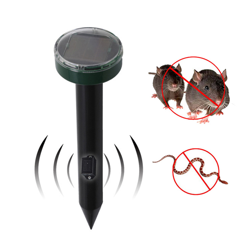 Solar Power Ultrasonic Gopher Mole Snake Mouse Sonic Wave Rodents Pest Reject Repeller Control for Garden Yard New
