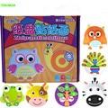 10pcs/set DIY Paper Plate Art Craft Puzzle Stickers Cartoon Animals Creative Gift Boxes Kindergarten Kids Educational Toys