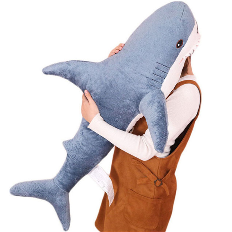 80-138cm plush toy stuffed shark childrens toys boy cushion girl animal reading pillow birthday Christmas gift