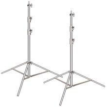 Neewer, 2 шт., светильник, набор, 260 сантиметров, нержавеющая сталь, сверхмощный, с 1/4-дюймовым до 3/8 дюймовым универсальным адаптером