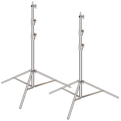 Neewer 2 Pieces Light Stand Kit, 260 centimeters Stainless Steel Heavy Duty with 1/4-inch to 3/8-inch Universal Adapter