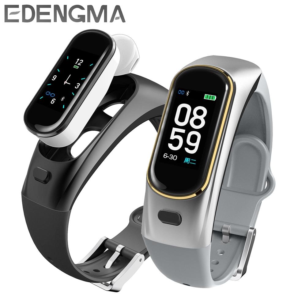 H109 talkband smart armband draadloze Bluetooth call headset voor Huawei Samsung telefoon met hartslagmeter talk band PK b5-in Slimme polsbandjes van Consumentenelektronica op  Groep 1