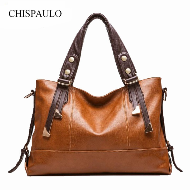 New Women Handbag Genuine Leather Bag Lichee Pattern Shoulder Bags Bolsas Femininas Crossbody Tote Fashion Women Messenger Bags