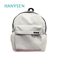 2017 spring female metal ring small backpacks canvas travel bag for teenage girl preppy style solid.jpg 250x250