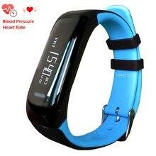 NBS05 Azul Pulseira Heart Rate Monitor de Dormir Pressão Arterial Inteligente Bluetooth Relógio Inteligente Moda À Prova D' Água Rastreador de Saúde