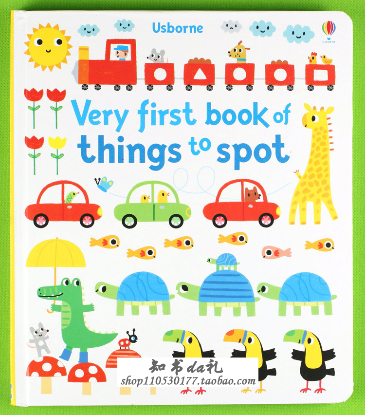 Very first book of things to spot : Book For Kids Children Learn English picture books look for cardboard book my first things that go colouring book