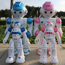 RC Robot Intelligent Programming Remote Control Robot Toy Biped Humanoid Robot For Children Kids Birthday Gift robot dog pet(China)