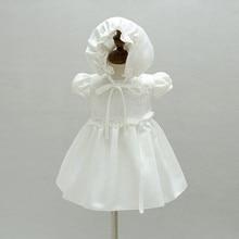 baby girls short sleeve lace white dress children toddler princess dress for baby 1 year birthday girl baptism dresses 3M-24M