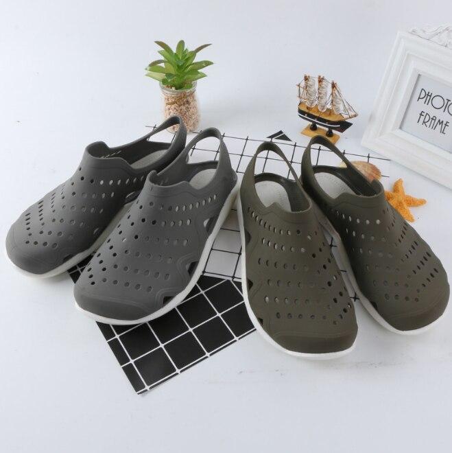 En Pantoufles Respirant Hommes gris Mode Casual Zll516 Noir bleu Plein Couple Flops Chaussures Flip De Huanqiu Plage Sandale Creux Air A5jL4R