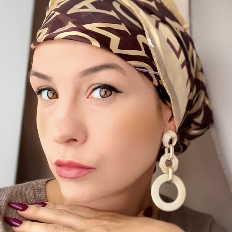 AENSOA Fashion Large Round Drop Earring for Women Girl Geome