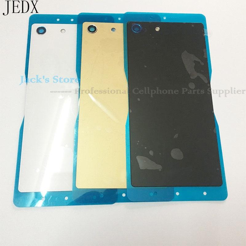 JEDX M5 Retour Couvercle En Verre pour Sony Xperia M5 Double E5603 E5633 Couvercle de La Batterie Porte Logement Avec NFC Autocollant Imperméable À L'eau