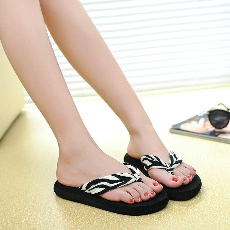 AnpassungsfäHig Sommer Plattform Wedfes Flip-flops Frauen Rutschfeste Flip Hausschuhe Sandalen Große Größe 10 Klar Und Unverwechselbar