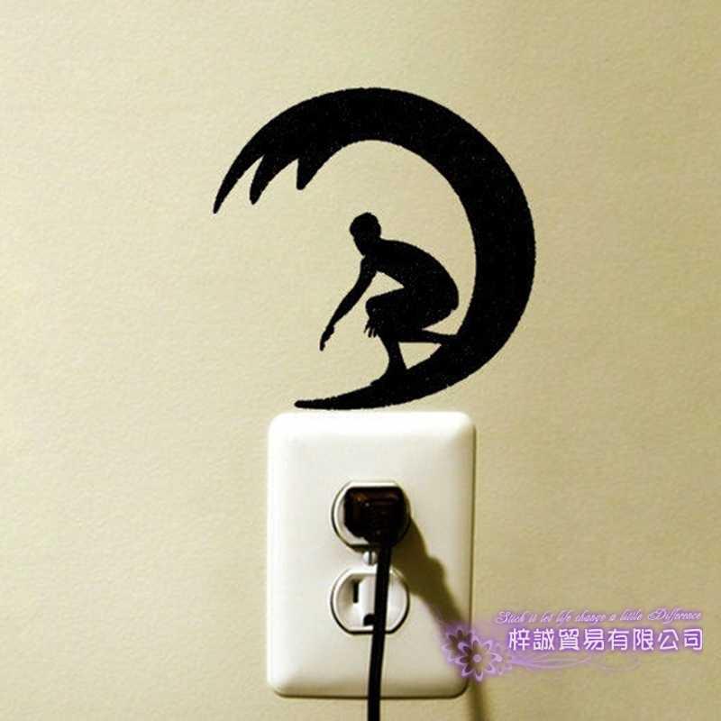 Dctal Surf Switch Panel Stiker Berselancar Decal Poster Dinding Vinyl Stiker Parede Dekorasi Lukisan Dinding