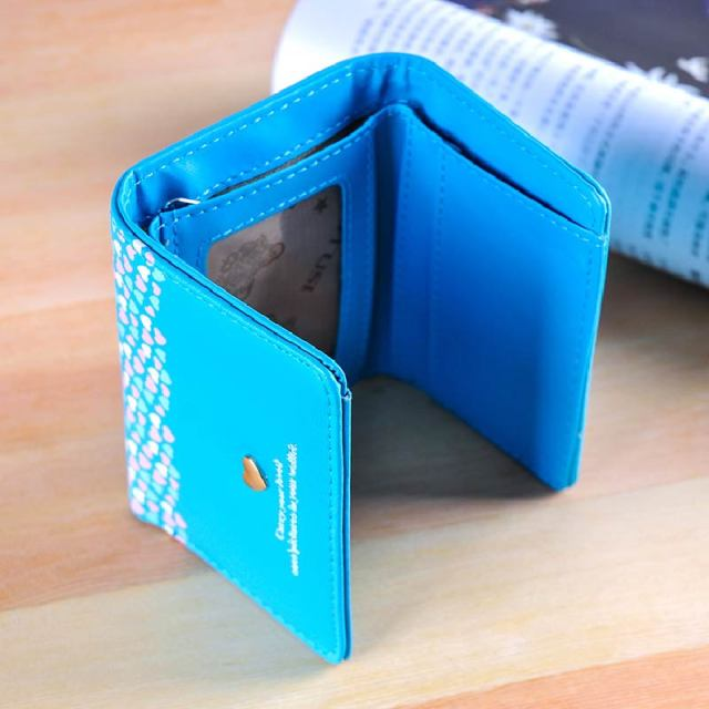 Fashion Lady Brand Handy Short Wallet Women PU Leather Love wallet female Credit Card Holder Money Wallets for Girls XH156