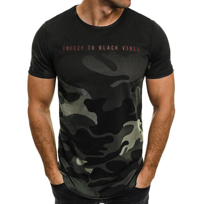 New Camouflage Print   T     Shirt   Men Fashion Streetwear Casual Men   T  -  shirts   Summer Short Sleeve Men Tshirts Male Tees Dropshipping