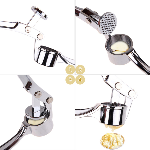 Stainless Steel Garlic Press Kitchen Accessories Gadegts Cooking Vegetable Tools Garlic Peeler Crusher Descascador PTSP