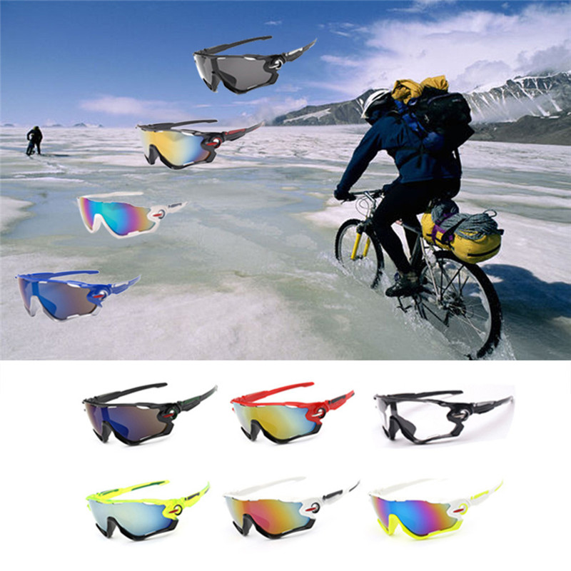 2017 Arrival Anti-UV UV400 Lens Sunglasses Riding Glasses Colorful Outdoor Sports Mountain Bike Eyeware Cycling Equipment M10