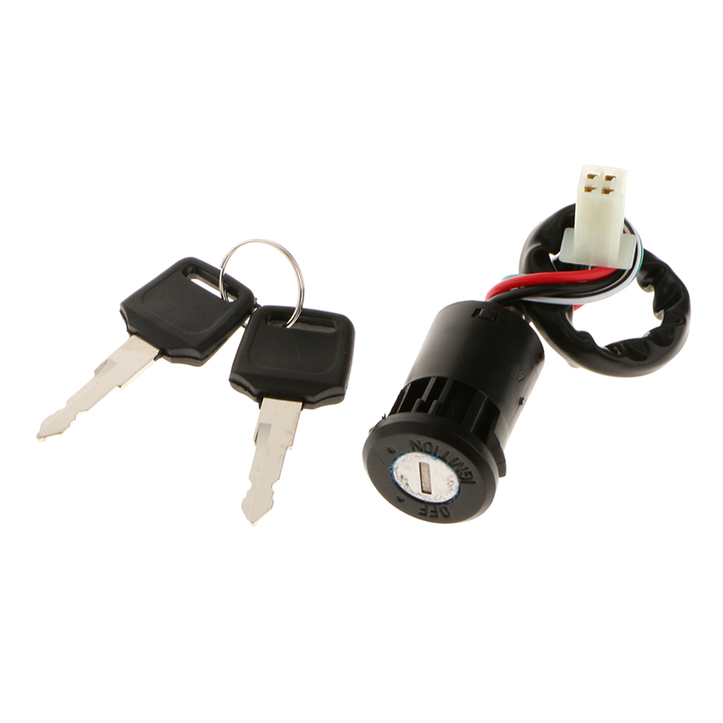 KEY IGNITION SWITCH 4 WIRE Mini ATV Quad Pocket Dirt Chopper Bike Scooter