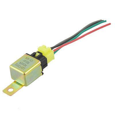 DC 12V 40A 4 Pin Car Auto Power Relay w 4 Wire Harness Socket high quality 4 pin automobile relay 12v 40a with plug and 12cm wire harness automobile modification car relay waterproof