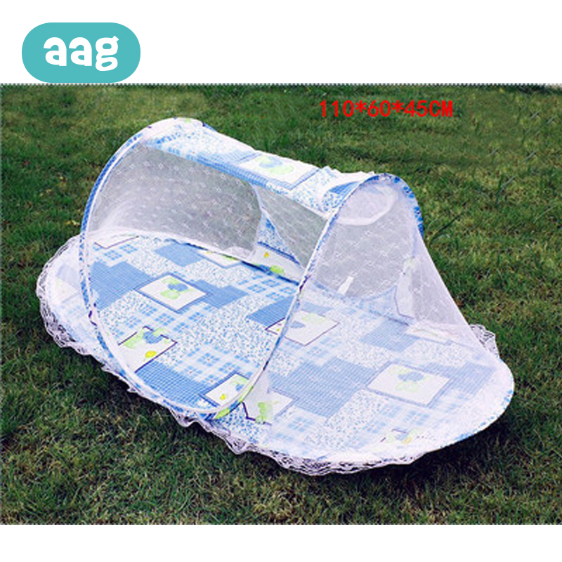 AAG Portable Folding Baby Bedding Crib Mosquito Net Newborn Summer Infant Insect Netting Baby Yurt Mosquito Outdoor Tent 30 in Crib Netting from Mother Kids