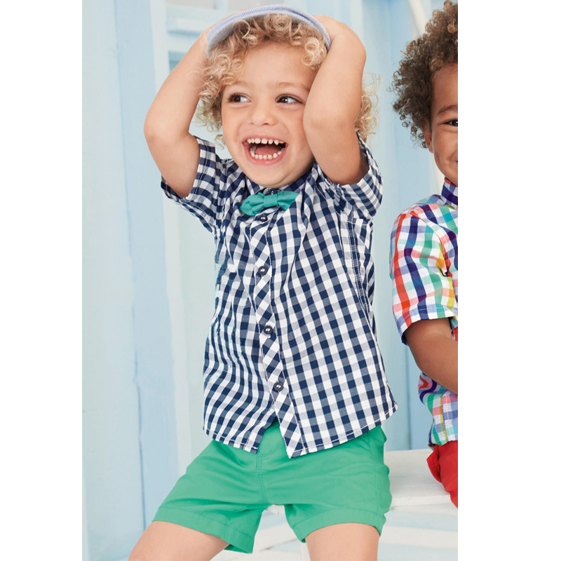 Kids Clothes Summer Newest Design Baby Boys Clothing Ropa Plaid Shirt Top+Short Pants Suit Boys Vestido Baby Boys Clothes Sets newest 2016 summer baby rompers clothing short sleeve 100